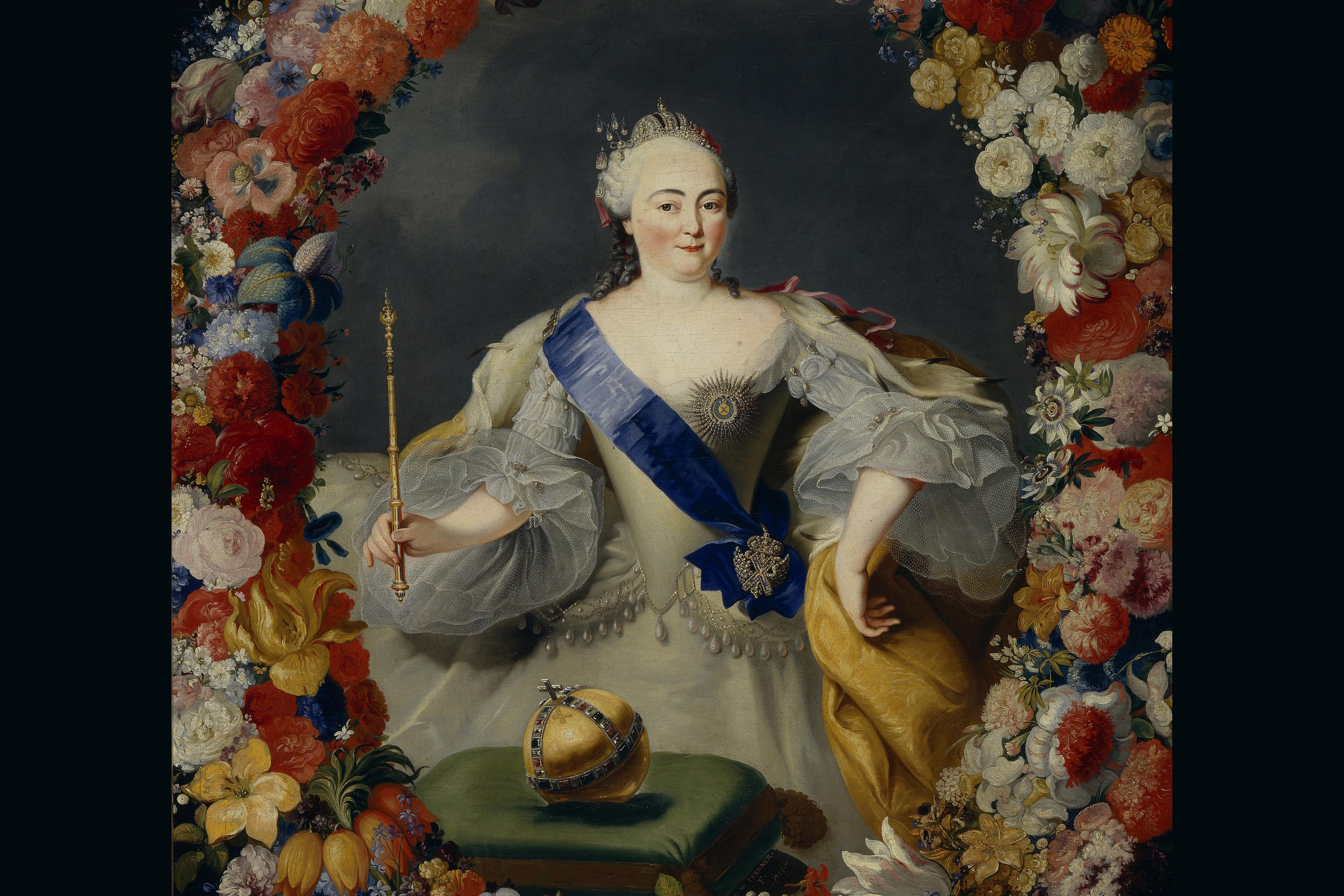 Empress Elisabeth of Russia, from a portrait by Georg Kaspar Prenner, 1754