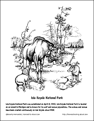 Isle Royale National Park Coloring Page