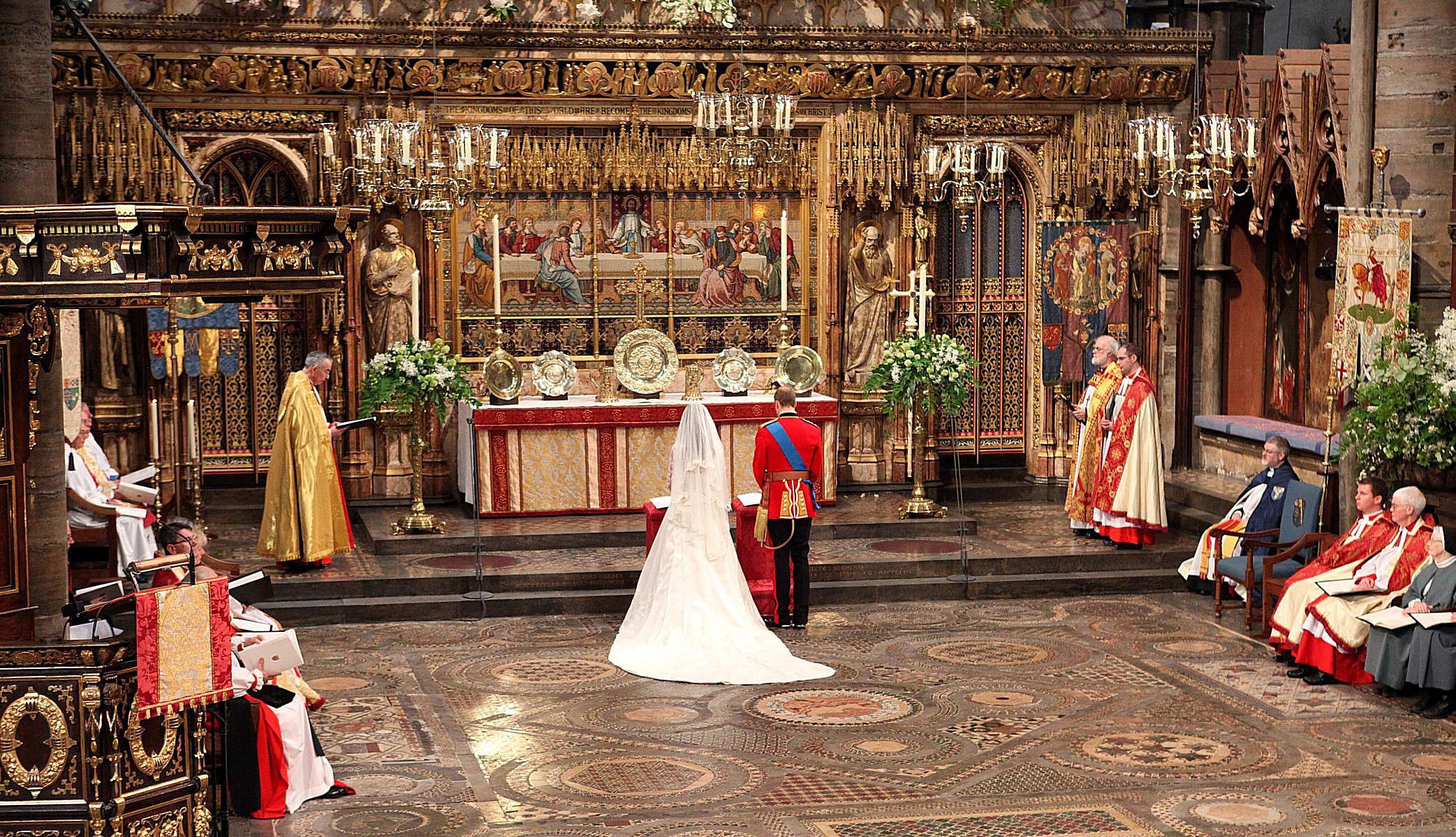ウェストミンスター寺院のキャサリンとウィリアム-2011年4月29日