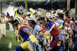 Men Dance at Rocky Boy Pow Wow, Montana
