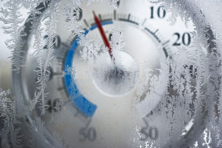 frozen temperature gauge