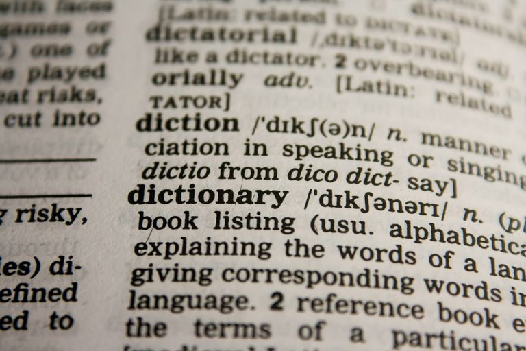 A dictionary definition of dictionary