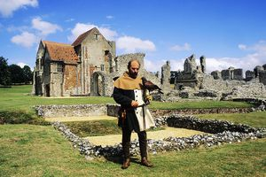 Re enactment, Castle Acre Priory medieval falconry