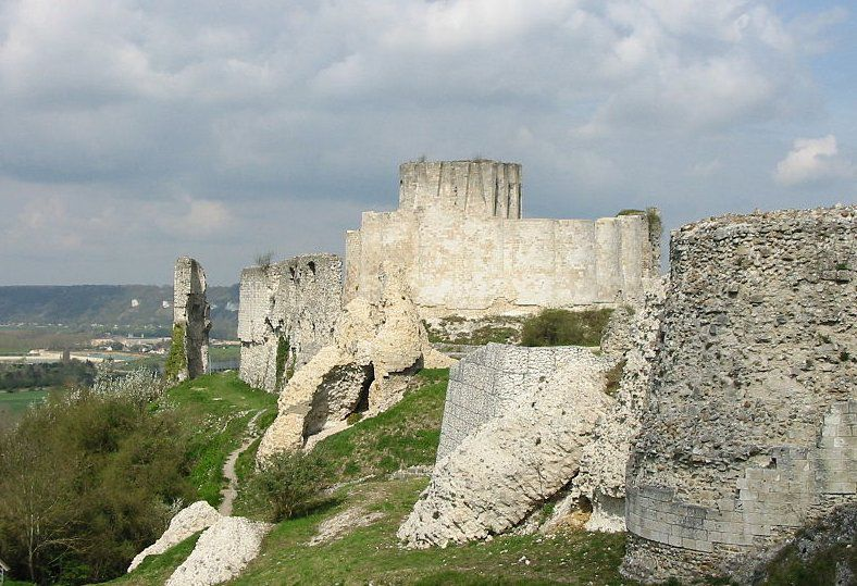 Chateau Gaillard en Normandía, Francia