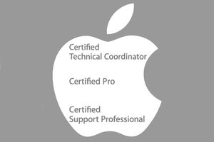 Apple logo and types of certifications