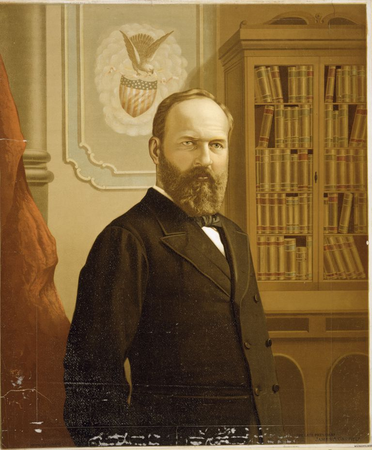 President James A. Garfield Lithograph by G.F. Gilman, ca. 1881