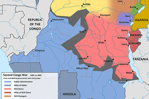 A map of those affected by the Second Congo War