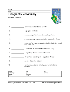 It is an image of Delicate Printable Geography Worksheets