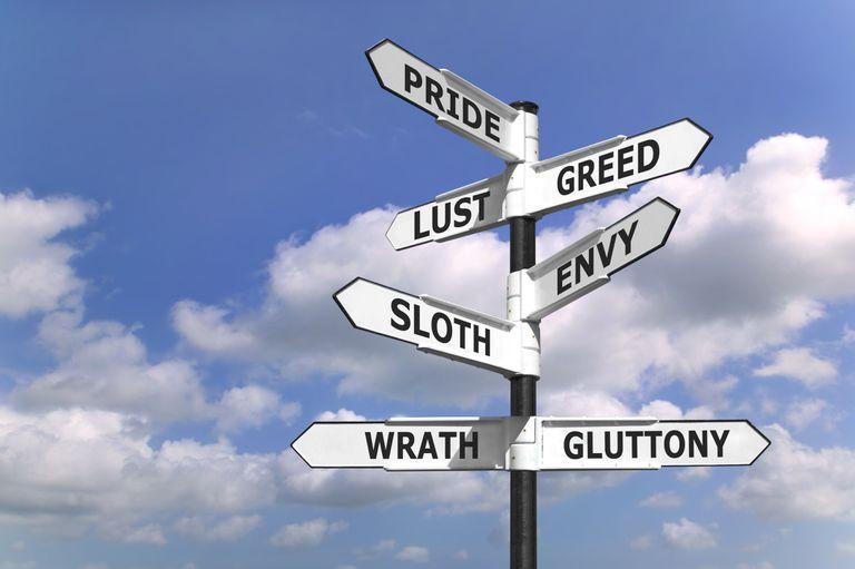Seven dealdy sins signpost