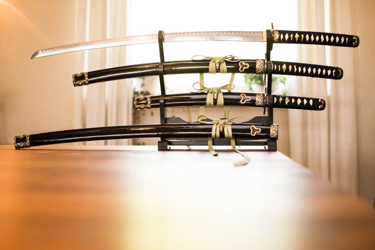 Japanese samurai swords