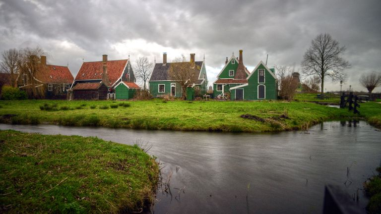 Zaanse Schans picturesque traditional cottages