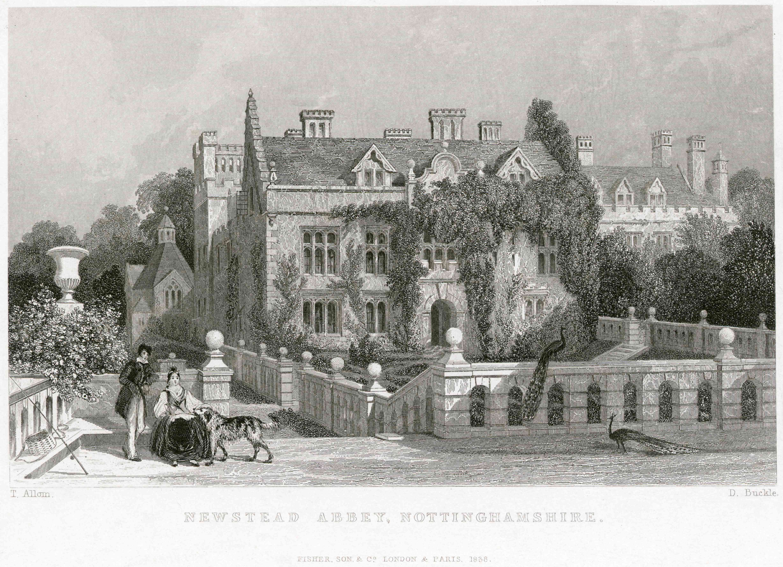 Newstead Abbey, Nottinghamshire, 1838