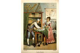 1896 Lithograph of Caroline and William Herschel