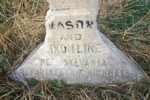 Mason Dixon Line marker