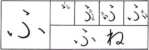 how to write the hiragana fu character