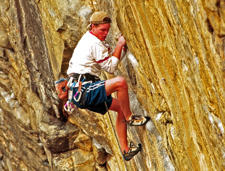 Ian Spencer-Green climbing at Clear Creek Canyon, Colorado.