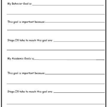 Setting Goals Worksheet #3