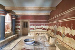 Throne Room, Palace of Knossos, Crete, Greece