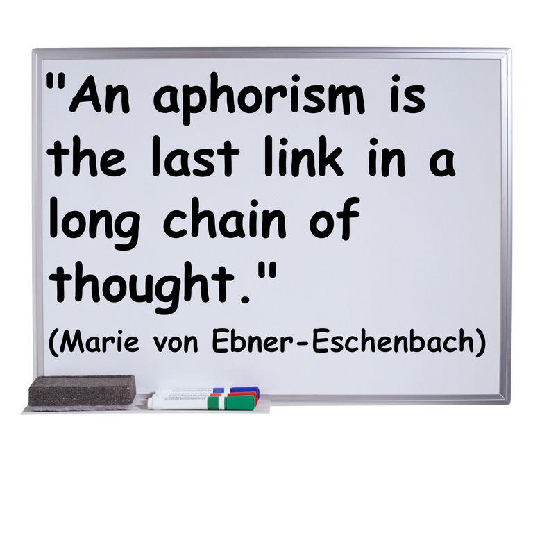 Definition and Examples of Aphorisms