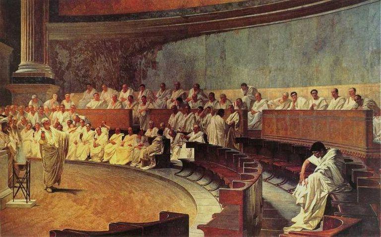 Cicero accuses Catiline