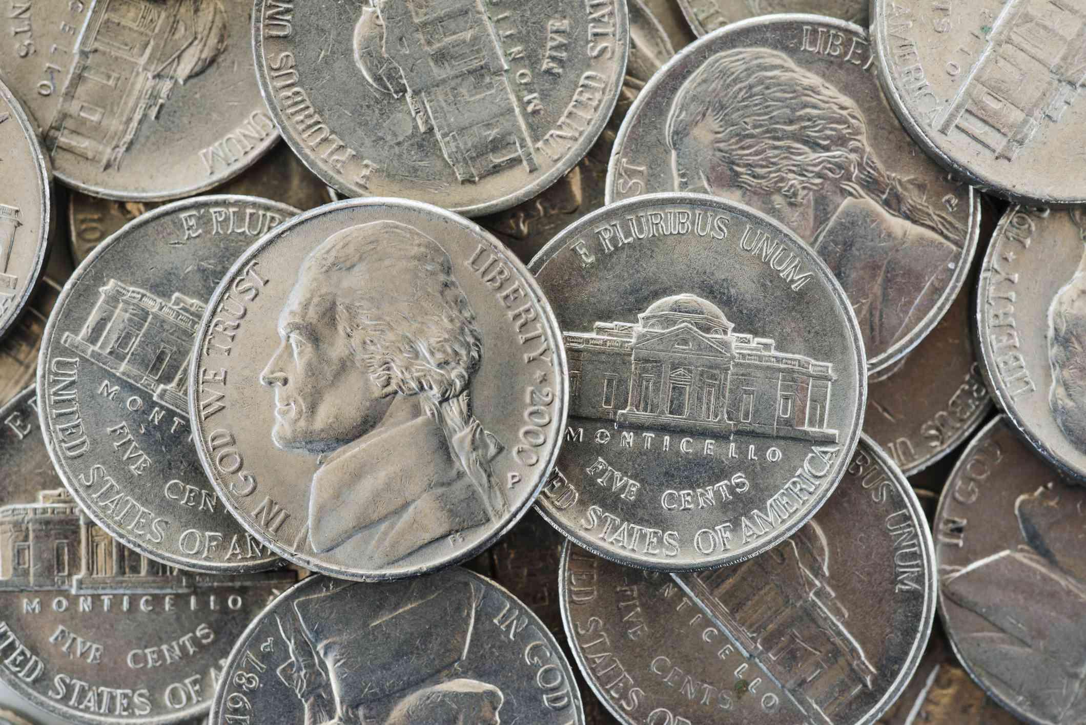 pile of nickels