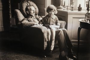 Christopher Robin on A.A. Milne's Lap