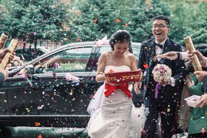 Bride and Groom of a wedding in China