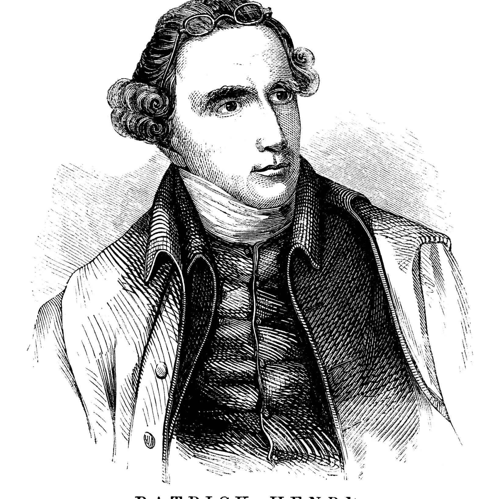 1855 Engraving of Patrick Henry