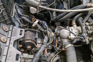 Abandoned car engine