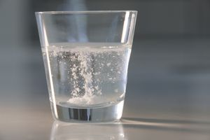 Soluble compound dissolving in water