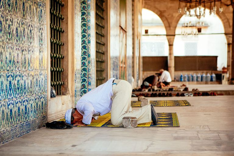 fd1d1d53b100 How to Perform the Daily Islamic Prayers. Share  Flipboard  Email. Print.  Man Offering Namaz At Mosque