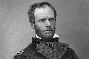Engraved portrait of General William Tecumseh Sherman
