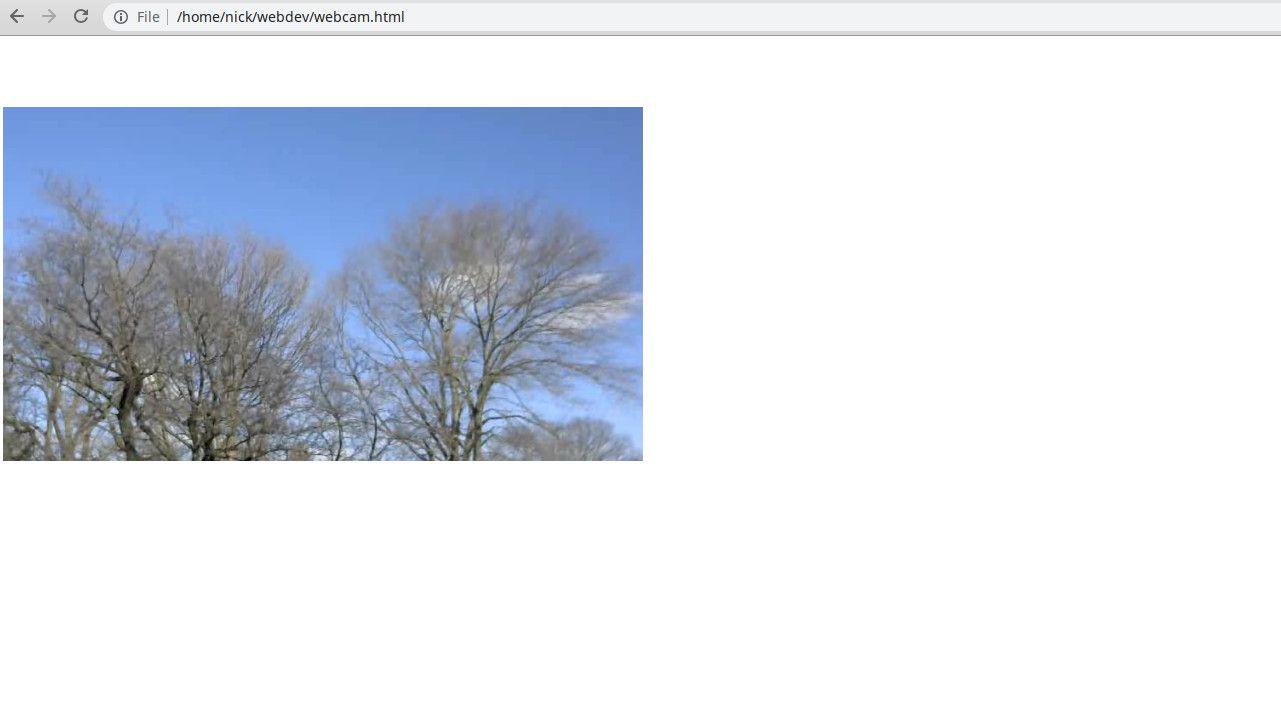 VLC webcam stream in Chrome