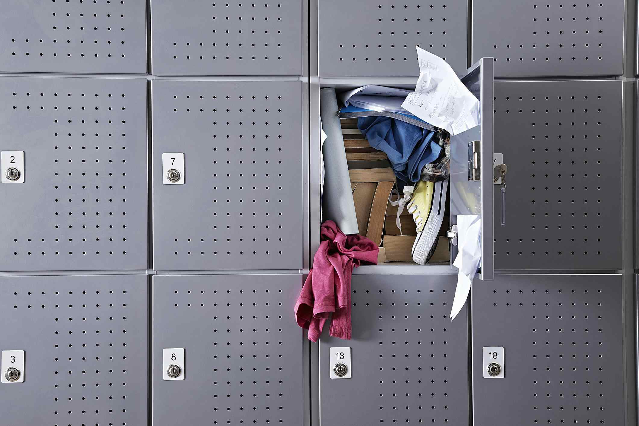 Clean out your locker before your midterm!