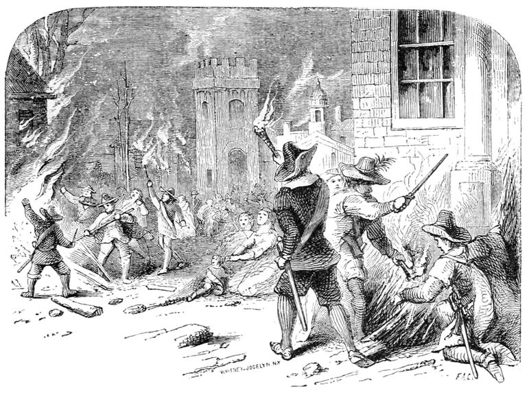 The Burning of Jamestown