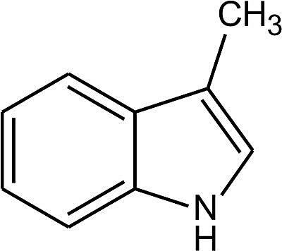 Esta es la estructura química del escatol.