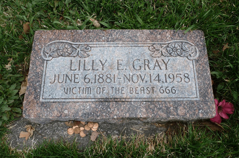 Victim Of The Beast 666 The Gravestone In Salt Lake City
