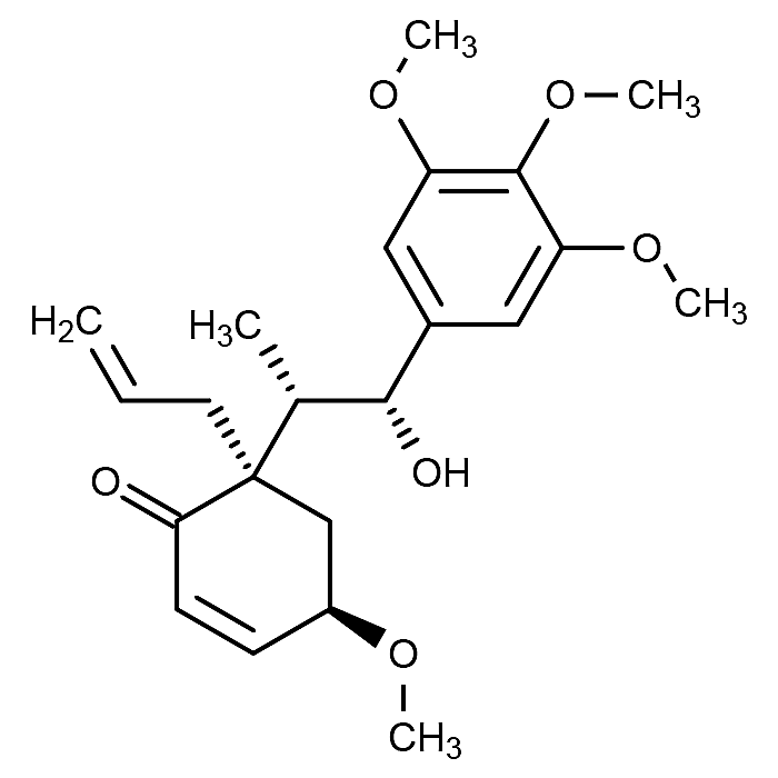 This is the chemical structure of megaphone.