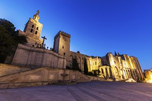 Avignon Cathedral and Palais des Papes