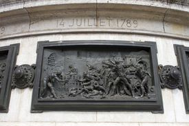 bas relief of the storming of the Bastille