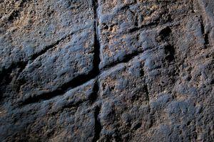 Neanderthal Rock engraving from Gorham's Cave, Gibraltar