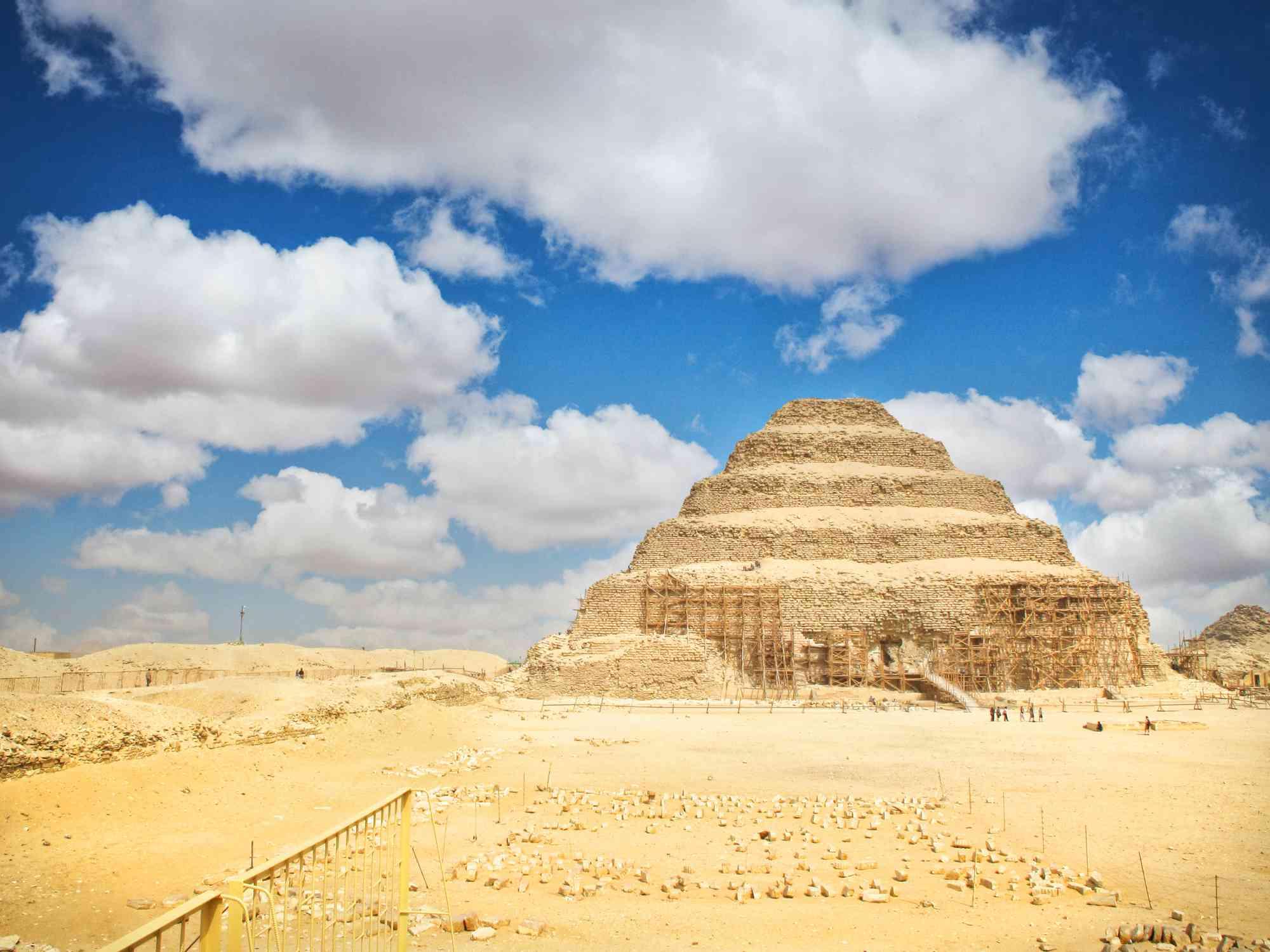 βήμα πυραμίδα στη Saqqara