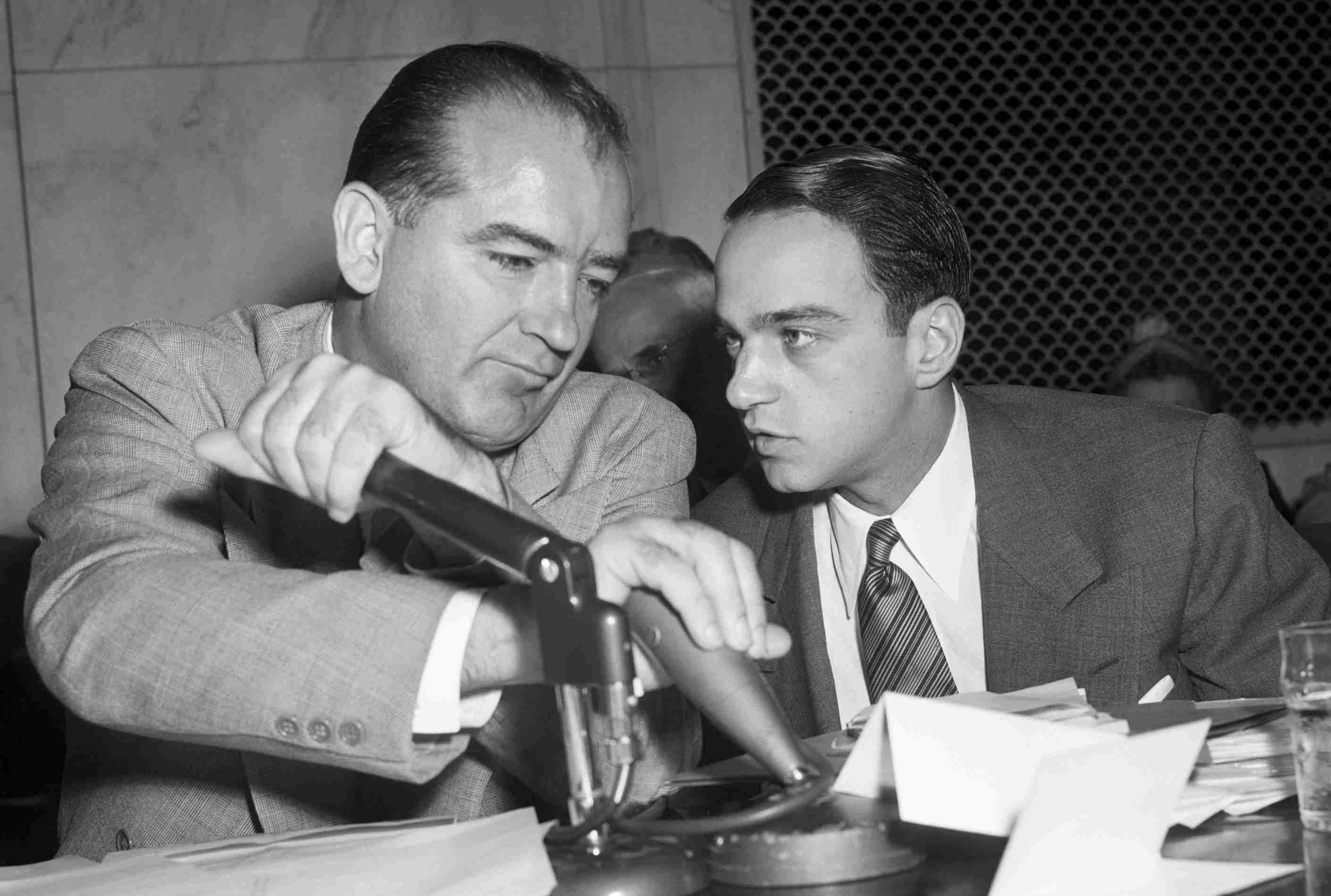 Photograph of Joseph McCarthy and Roy Cohn