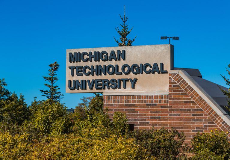 Michigan Technological University school sign.
