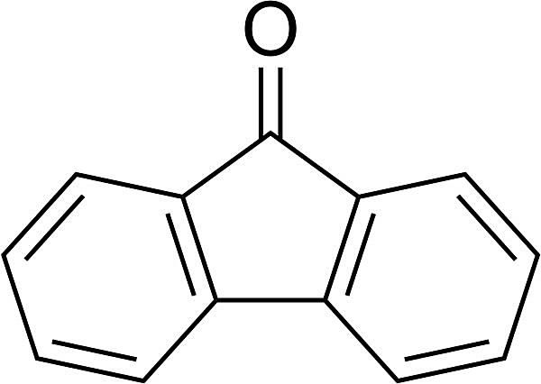 This is the chemical structure of fluorenone.