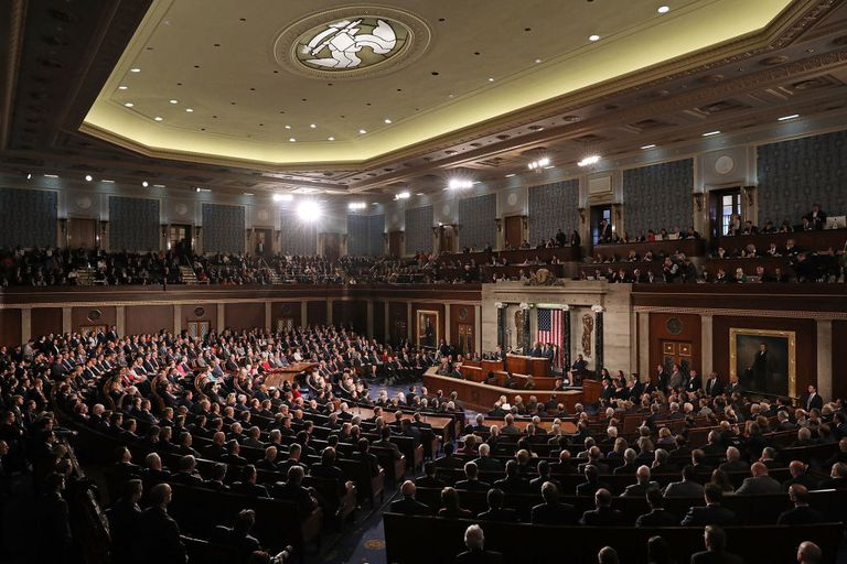 The U.S. Congress in the House Chamber at the U.S. Capitol