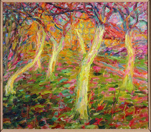 Emil Nolde, White tree trunks, 1908.