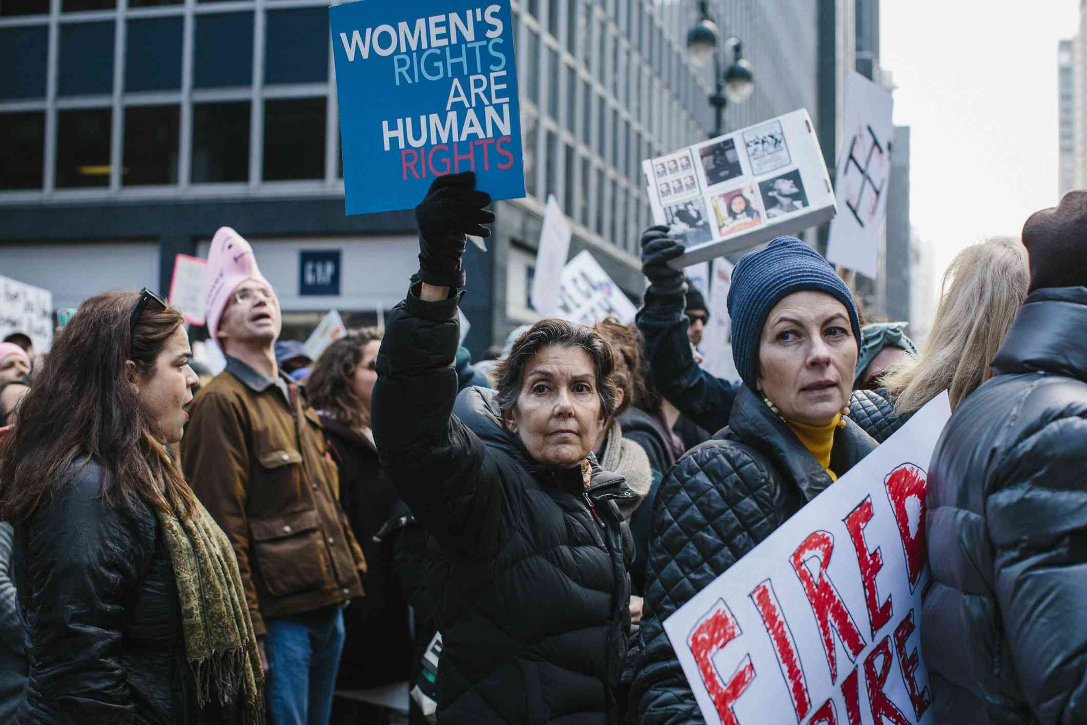 Women's rights march in New York.