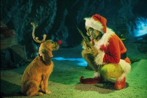 The Grinch Played By Jim Carrey Conspires With His Dog Max
