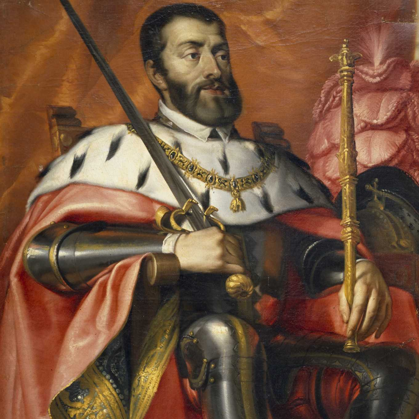 Cropped painting of Charles V